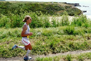 Lesley Paterson is the fastest female runner but will need to hold her own in the water.