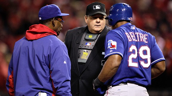 MLB's refusal to implement instant replay continues to irk Amanda Rykoff ... and perhaps Adrian Beltre.