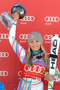 By winning the giant slalom in Solden, Austria, in October, Lindsey Vonn became just the fifth woman in history to win a World Cup race in all five alpine skiing disciplines.