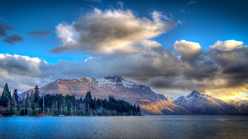 Southern Alps and Lake Wakatipu