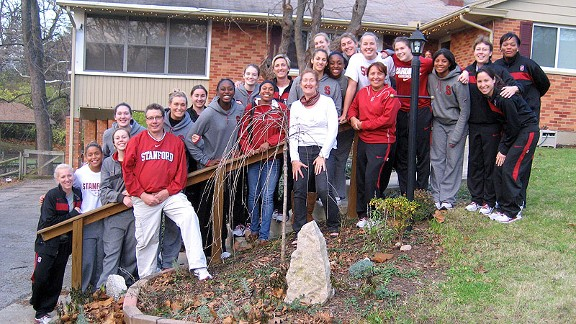With Thanksgiving falling in the middle of a week-long road trip, the Stanford basketball team celebrated the holiday at the home of junior forward Mikaela Ruef in Beavercreek, Ohio.