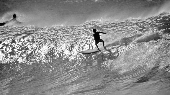 Between '66 and '74, Aikau made the final of the Duke Kahanamoku Classic six times, and in '71, he finished fifth at the Smirnoff Invitational at Waimea, where the surf reached record proportions. And when it was happening at Sunset, he was untouchable.