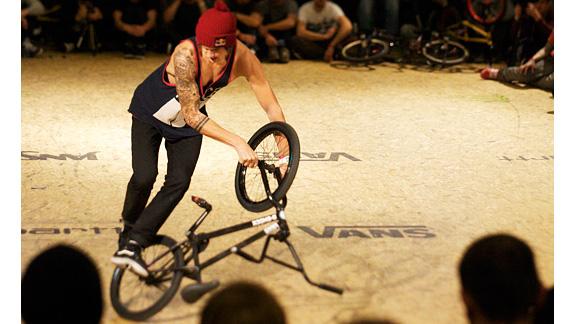 Matthias Dandois won all three judging categories in flatland at the Vans Rebel Jam -- creativity, style and hard trick.
