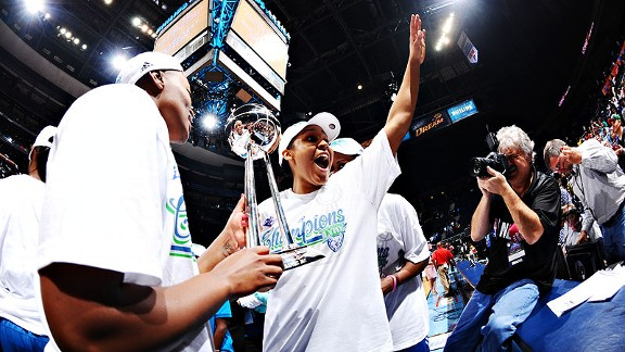 In October, Maya Moore led the Minnesota Lynx to a sweep of the WNBA Finals.