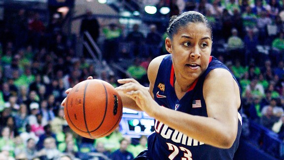 Kaleena Mosqueda-Lewis ranks second on the Huskies in scoring and first in 3-point shooting.