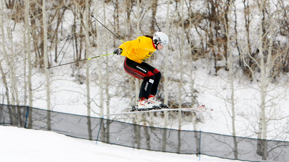 Serwa won the 2011 Skier X with a spectacular crash finish.