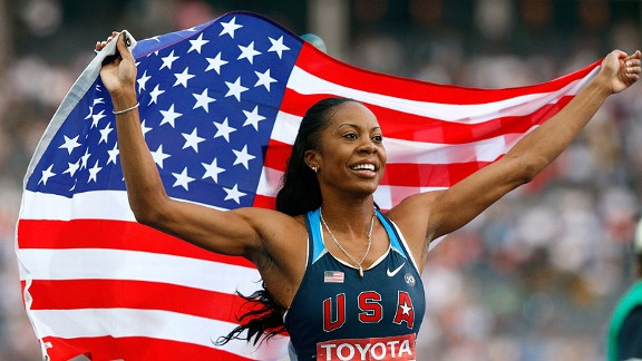Sanya Richards-Ross won gold in the 400 meters at the 2009 world championships -- and is hoping to do the same in London this summer.