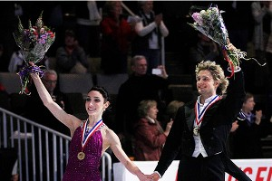 Charlie White, right, and Meryl Davis won their fourth straight U.S. title in ice dancing.