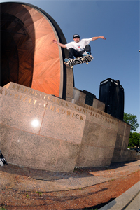 Switch ollie in Boston, Mass.