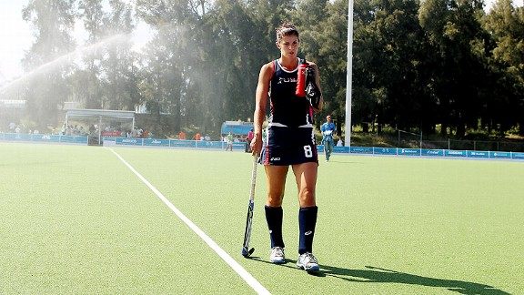 Rachel Dawson hopes to lift U.S. field hockey up the ranks when the team takes the field in London.