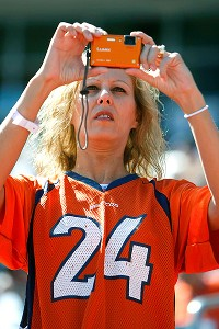Women are on the the Tim Tebow bandwagon, but this Broncos fan has chosen a Champ Bailey jersey.