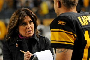 NBC Sports' Michele Tafoya will appear in her second Super Bowl this Sunday.