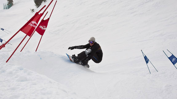 Terje Haakonsen, winner of this year's Mt. Baker Legendary Banked Slalom.