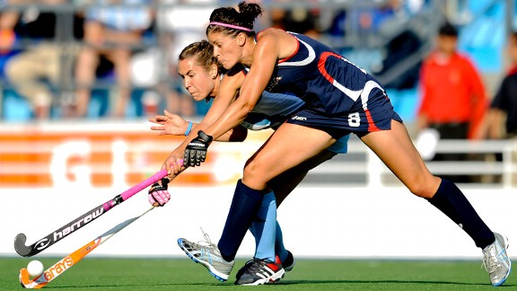 U.S. field hockey star Rachel Dawson says the thrill of game day is better even than Christmas morning.
