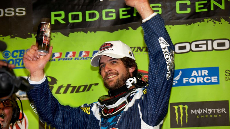 Windham, all smiles on the podium in Toronto in 2008. a class=launchGallery href=http://espn.go.com/action/photos/gallery/_/id/7602528/on-eve-milestone-kevin-windhamiLaunch Gallery »/i/a