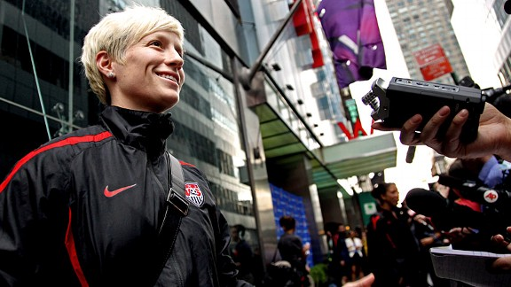 Megan Rapinoe and the U.S. women's team earned an Olympic berth at last month's trials in Vancouver.
