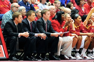 Bill Fennelly surrounds himself with family, including sons Billy, director of player development, and Steven, a graduate assistant.