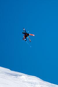 Winner Dane Tudor during the slopestyle portion of Red Bull Cold Rush.