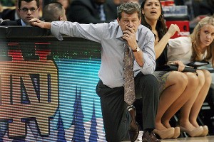 Geno Auriemma, who has coached UConn to seven national titles, said he would favor lowering the rim by less than a foot.