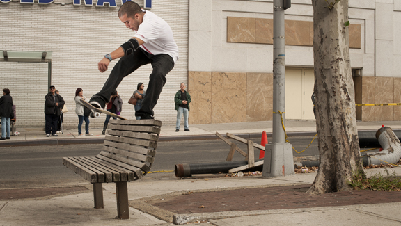 Rodney Torres has left Zoo York's Master division to start Torro Skateboards. F/S boardslide in NYC.