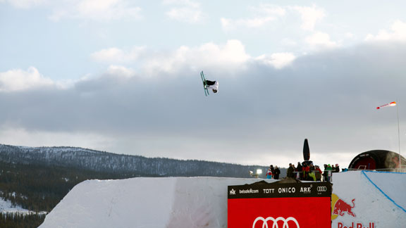 Frej Jnsson placed fourth in the Big Air contest with a double cork 7 and double cork 9.
