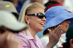 IBM CEO Virginia Rometty attended the Masters on Sunday, but the issue of her Augusta National membership remains uncertain.