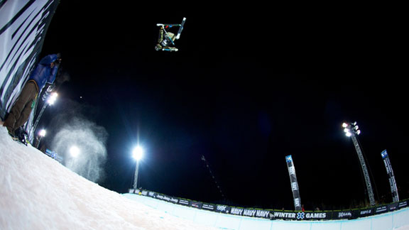 Wing Tai Barrymore competing at his first Winter X Games, where he tore both ACLs.