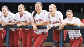 Jessica Shults, second from right, says great team chemistry has been the key to success for Oklahoma.