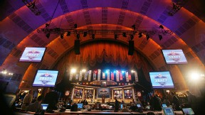 Radio City Music Hall serves as the host venue for the NFL draft. Brave fans can wait in line beginning Wednesday night for entry to Thursday's first round.