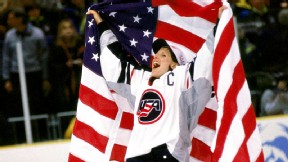 Cammi Granato and the United States skated off with the first Olympic gold medal in women's ice hockey.