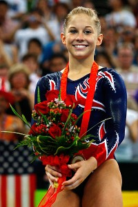 Shawn Johnson was a decorated member of the 2008 Olympic squad earning four medals, one gold and three silver, at age 16.