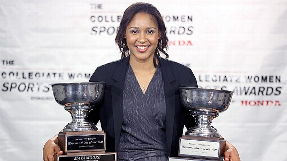 Maya Moore, receiving her second Honda Cup in 2011, knows that the benefits from playing a sport -- such as developing character and confidence -- go far beyond fame and publicity.