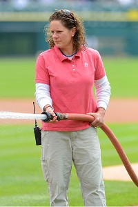Heather Nabozny managed the groundscrew for Detroit's Class A affiliate, and the team's pristine field caught the eye of the big league bosses who called her up to the majors.