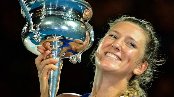 Formerly emotionally fragile and inconsistent, Victoria Azarenka has mastered her emotions with the help of her family and risen calmly to No. 1 in the world.