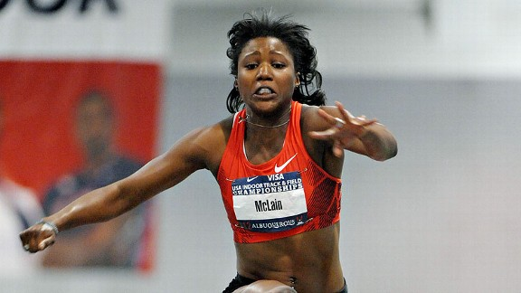 Erica McClain's performance has been up and down since her injury. She finished second at February's national indoor championships in Albuquerque with a jump of 45 feet, 1 inch.