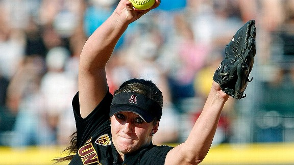 Arizona State pitcher Hillary Bach delivered a four-hit shutout to eliminate LSU on Saturday.