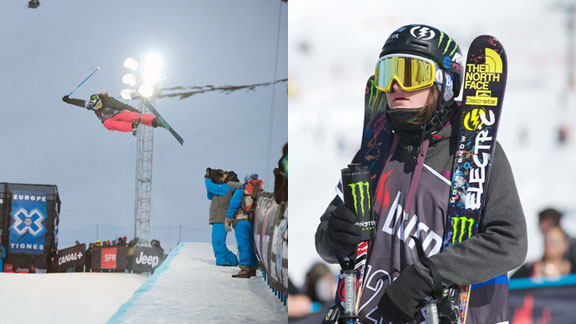 Devin Logan at Winter X Games Tignes, where she got silver in Superpipe and fourth in Slopestyle.