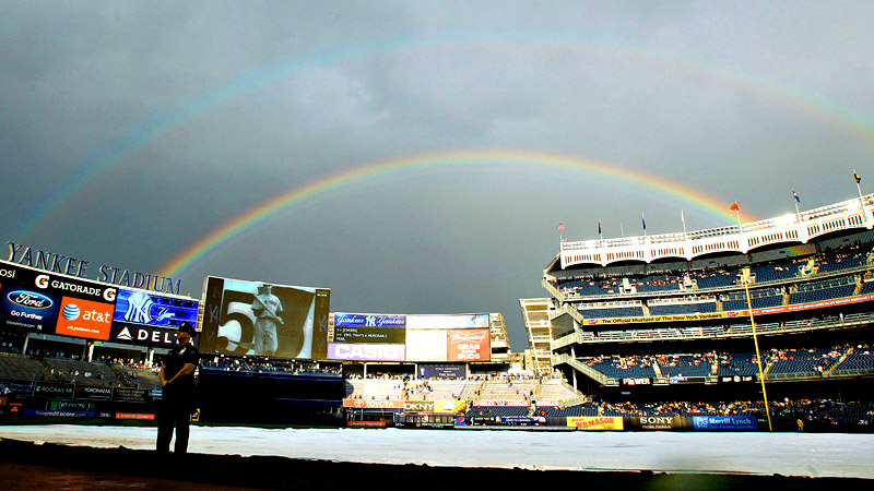 Yankee Stadium rainbow