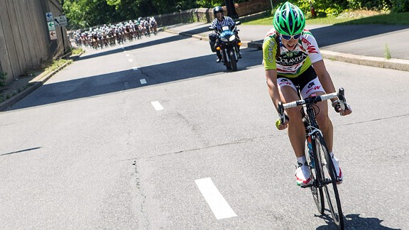Kathryn Bertine will continue to ride for Team Colavita this season.