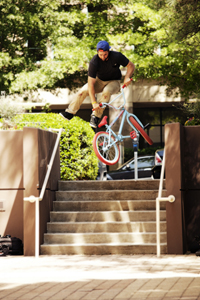 Tailwhip with ease down stairs.