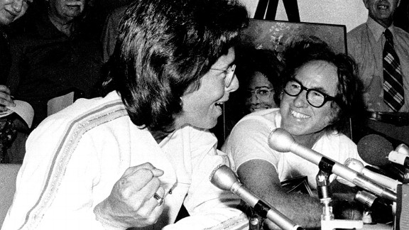 Billie Jean King showed women could pack a punch as she wiped the smile off Bobby Riggs' face with a straight-sets victory.