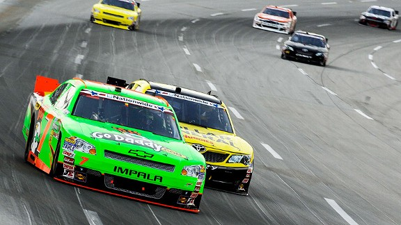 With her 12th-place finish Friday night in Kentucky, Danica Patrick moved up to ninth in the driver standings.