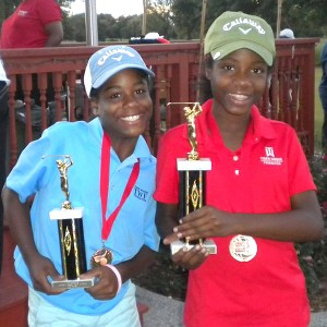 Myah, right, and Erica Jackson, shown at a tournament earlier in their career, have filled a trophy room with their more than 300 victories.