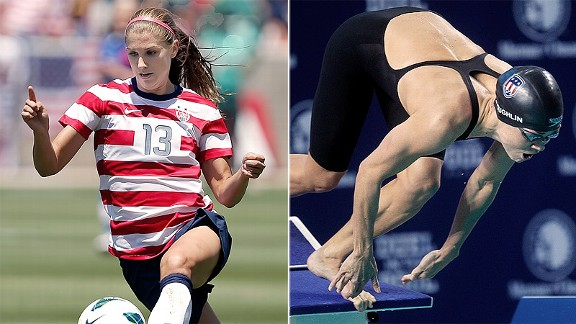 Soccer player Alex Morgan and swimmer Natalie Coughlin are top seeds in the women's Bracket of Awesome.