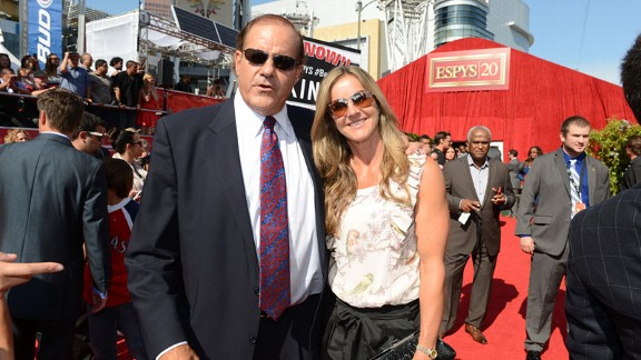 Chris Berman and Brandi Chastain