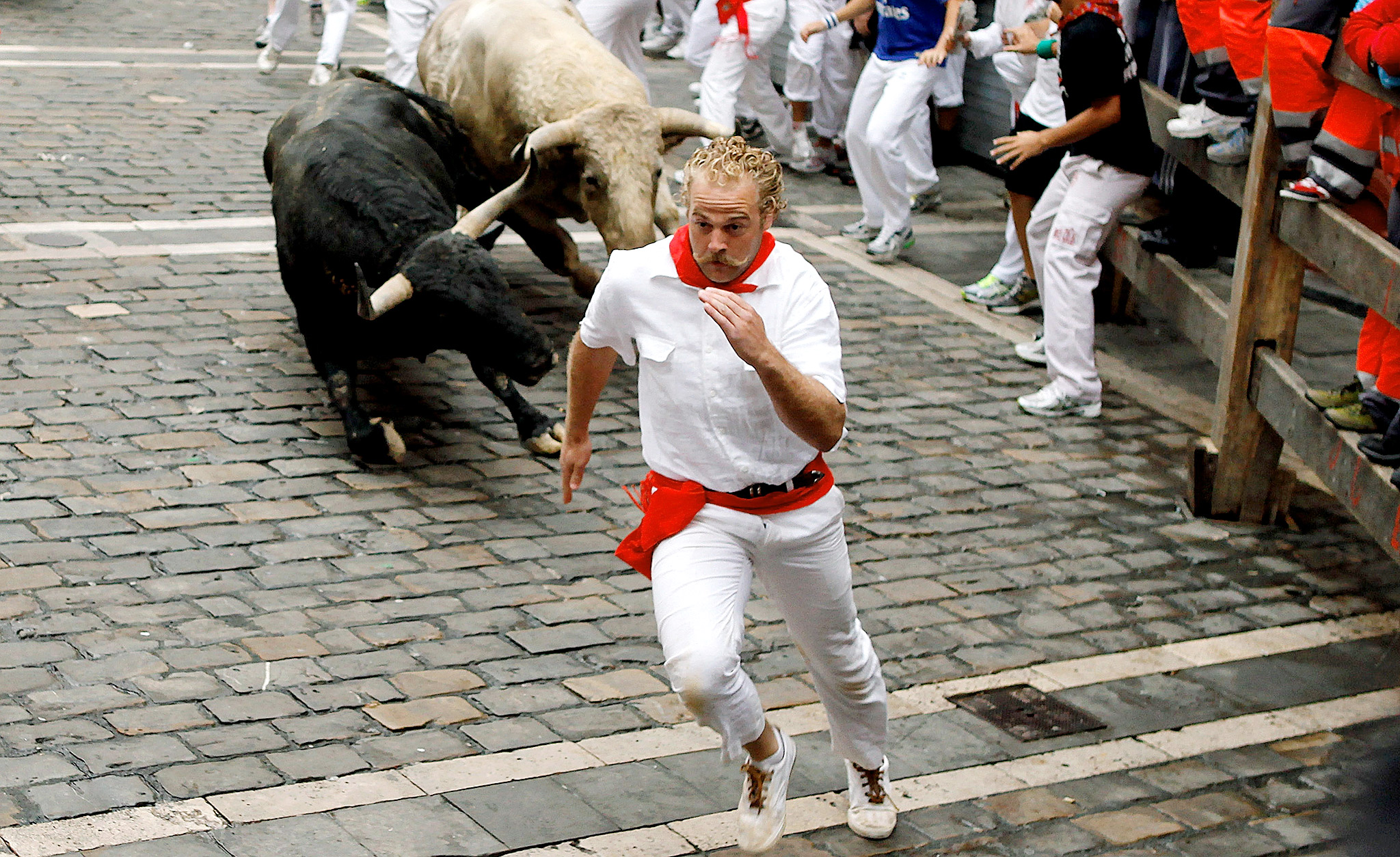 San Fermin running-of-the-bulls
