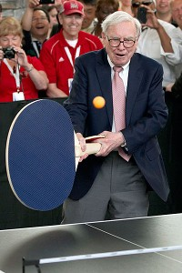 Ariel Hsing got to play Warren Buffett and Bill Gates at the Berkshire Hathaway Annual Shareholders Meeting. Buffett used this ping pong paddle to try to score a few points off of Hsing -- but it didn't work.