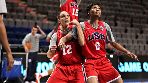 Diana Taurasi, left, and the U.S. women's basketball team continue to fight for respect. They've been on one of the most dominant runs in Olympic history, winning four straight golds. Yet they feel unappreciated instead of celebrated.