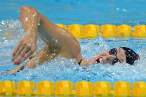 U.S. swimmer Allison Schmitt has won four medals in London, including two gold.
