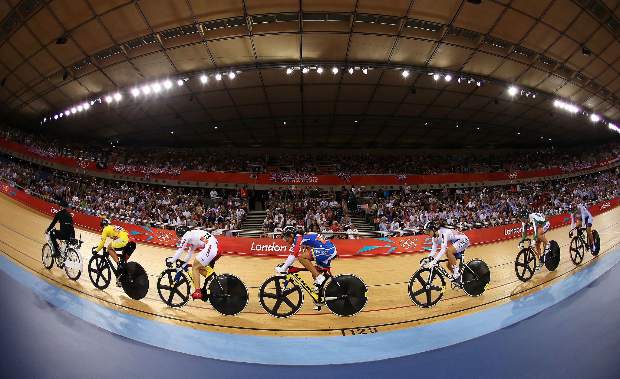 Keirin track cycling